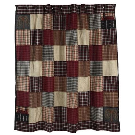 plaid shower curtains plaid quilt shower curtain love it homey pinterest