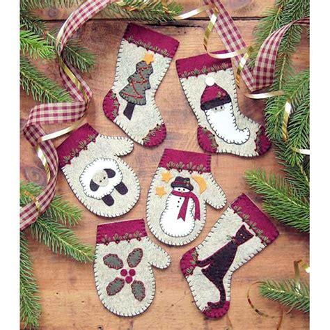 christmas woolens felt ornaments kit felt christmas