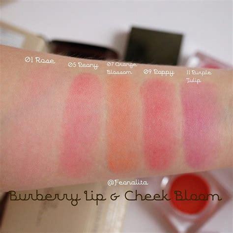 Burberry Lip Cheek Bloom swatches burberry lip cheek bloom ท ง5ส ค ะ