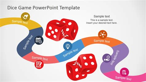 board game roadmap design for powerpoint slidemodel
