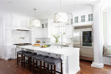 gorgeous gourmet kitchen designs features island with gray