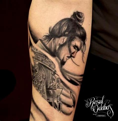 arm japanese samurai tattoo by resul odabaş