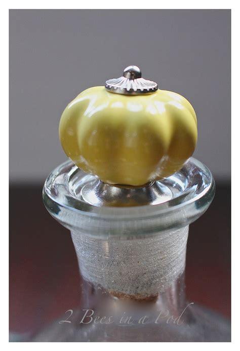 diy wine bottle stopper  bees   pod