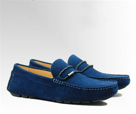 blue suede loafers mens tie up casual mens blue suede loafers genuine leather