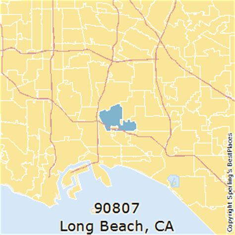 zip code map long beach best places to live in long beach zip 90807 california