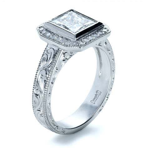 custom princess cut halo engagement ring 1209