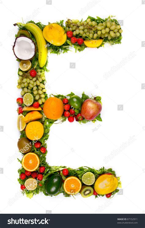 fruit with e fruit alphabet letter e stock foto 87152911