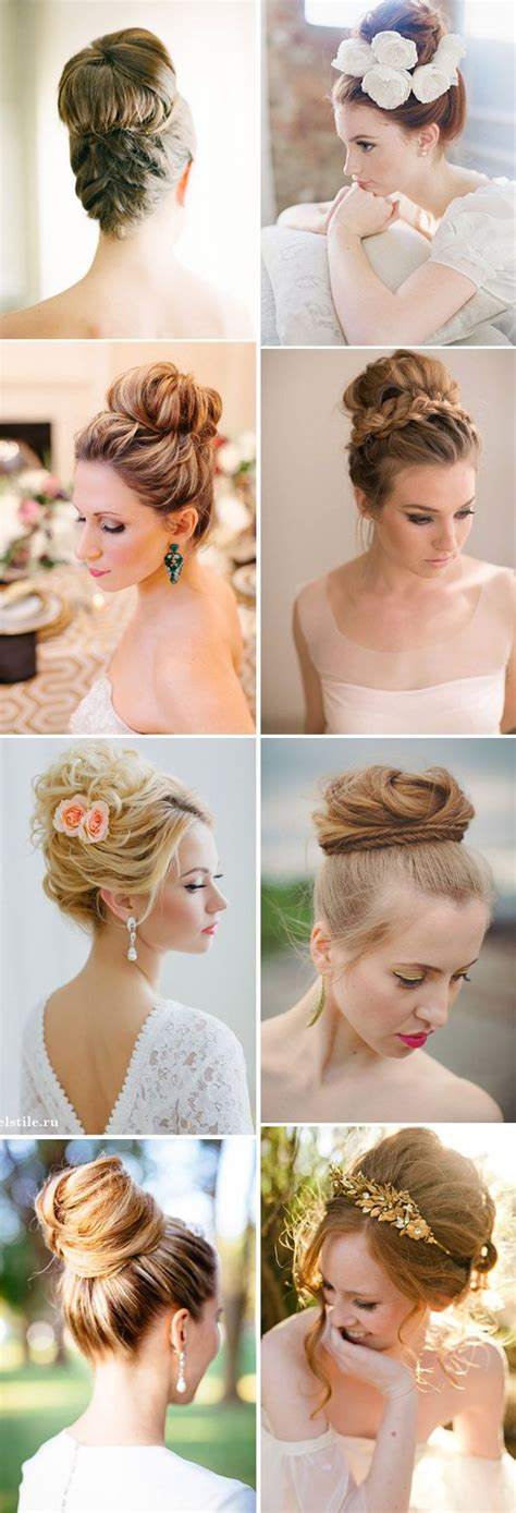 wedding hairstyles high updo 16 chic high updo wedding hairstyle ideas for brides