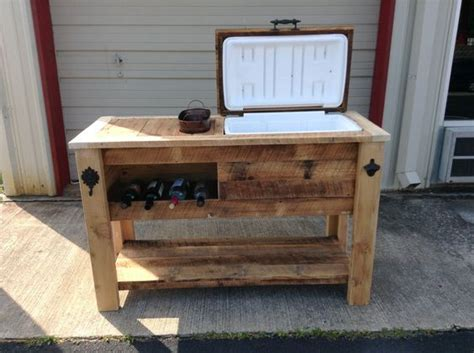 Kitchen Island With Trash Bin rustic cooler table rustic woodworx