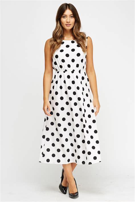Polka Dot Midi Dress   Just £5