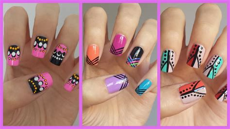 nail art tutorial for beginners at home easy nail art for beginners 12 jennyclairefox youtube