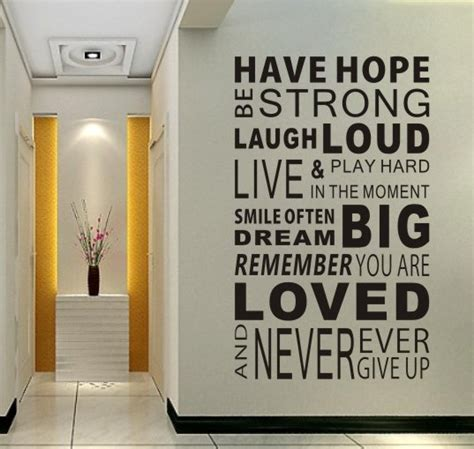 home decorating quotes free shipping have hope sticker family rules home decor