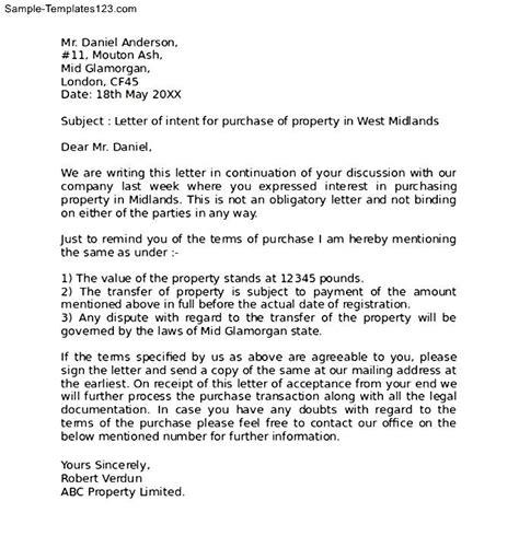 Letter Of Intent Estate Planning Letter Of Intent Real Estate Exle Sle Sle Templates