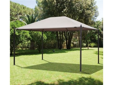 gazebo in metallo gazebo estoril 3x4 h 2 7mt in metallo grigio telo top