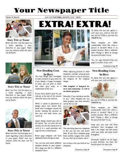 newspaper layout online free all purpose front page template try this 11 quot x14