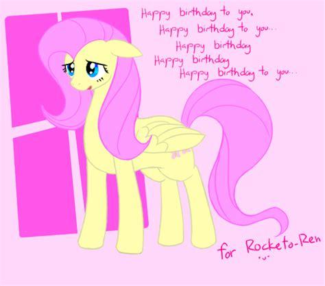 mlp fluttershy happy birthday fluttershy sing happy birthday by livinlovindude on deviantart