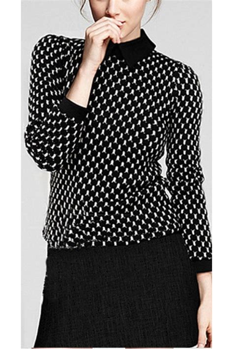 Puff Sleeve Pullover puff sleeve zipper pullover knit sweater 010050