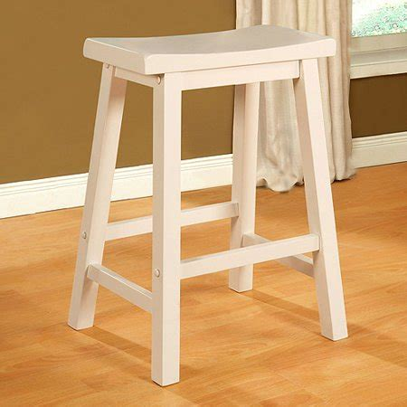 White Saddle Seat Bar Stools by Saddle Seat Counter Stool White Walmart