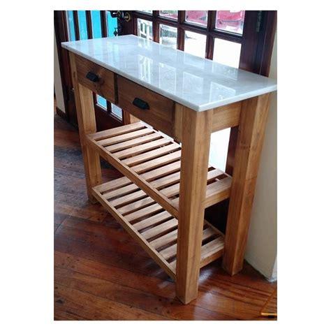 mesa auxiliar de cocina  tapa de marmol