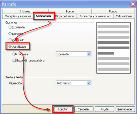 alineacion html imagenes y texto la alineaci 243 n del p 225 rrafo procesador de textos en la