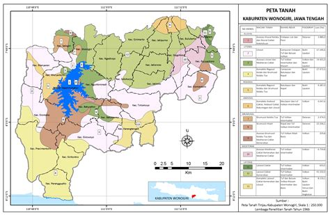peta tanah kabupaten wonogiri berdasar peta tanah tinjau