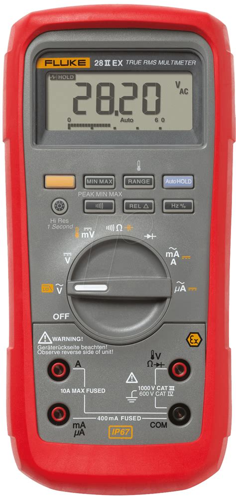 Daftar Multimeter Digital Fluke fluke 28 ii ex intrinsically safe true rms digital