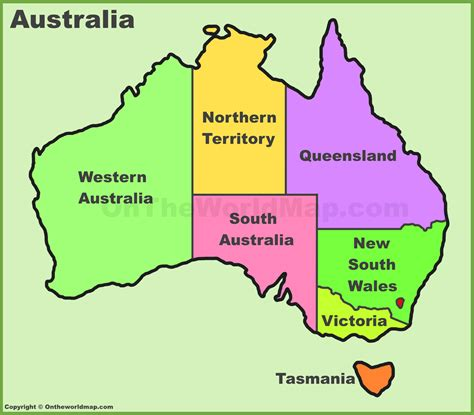 states in australia map australia states and territories map list of australia