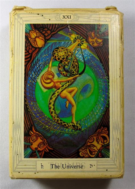 vintage aleister crowley thoth tarot deck white box