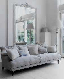 Gray And White Sofa Dove Gray Home Decor Light And Airy White And Grey