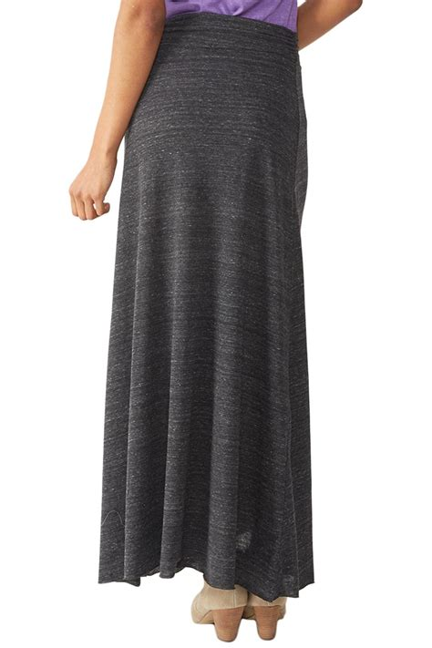 alternative apparel grey maxi skirt from california by