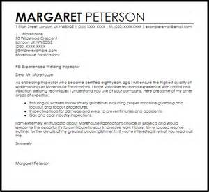 Weld Inspector Sle Resume by Welding Inspector Cover Letter Sle Livecareer