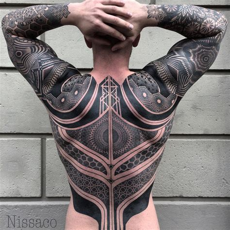 battle suit back piece best tattoo design ideas