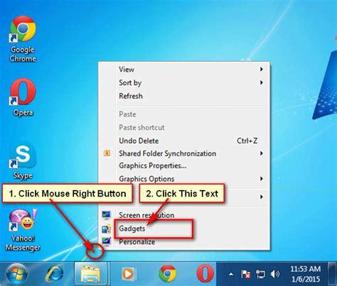 Calendar Desktop Gadget Windows 7 How To Add Calendar Gadget In Windows 7 Desktop