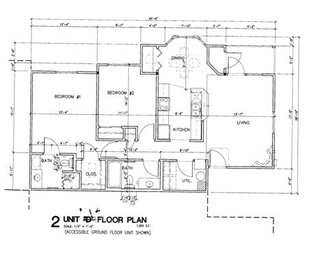 simple house blueprints with measurements and apartment