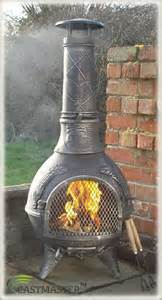 castmaster aztec cast iron chiminea chimenea chimnea patio