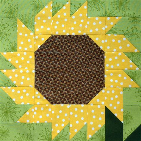 Sunflower Quilt Block Pattern by Starwood Quilter Sunflower Quilt Blocks Galore And Happy