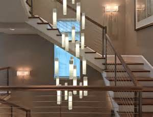 Contemporary living room stairwell light fixture contemporary