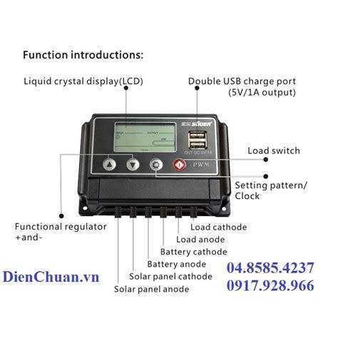 Controller Charge Surya Matahari Solar Cell 12 Volt 10 Ere bá ä iá u khiá n chuyá n ä á i sẠc pin nä ng læ á ng mẠt trá i 50a