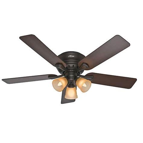 52 inch hugger ceiling fan reinert premier bronze three light 52 inch hugger ceiling