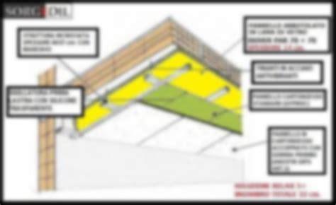 insonorizzare il soffitto isolamento acustico soffitto calpestio pannelli