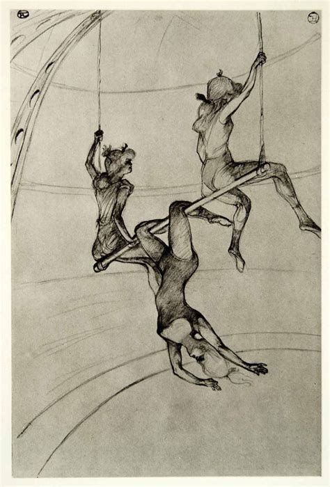 Sketches H by 1939 Photogravure Henri Toulouse Lautrec Flying Trapeze