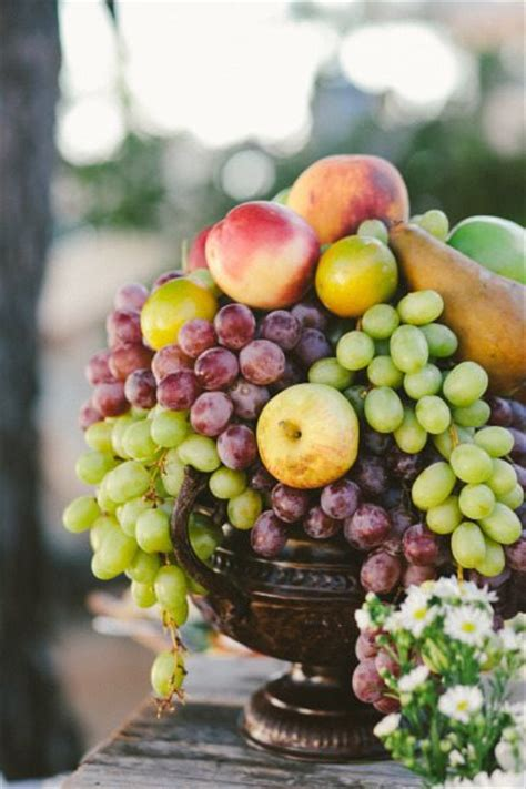 team wedding blog fruit filled centerpieces for your reception