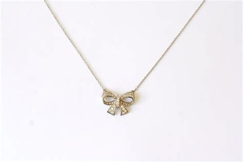 925 Sterling Silver Bow Necklace that jewellery sterling silver bow pendant necklace