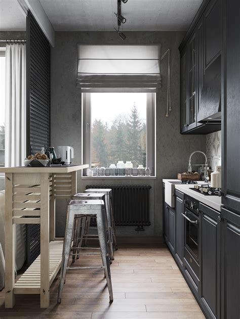 modern industrial apartment  denis krasikov design