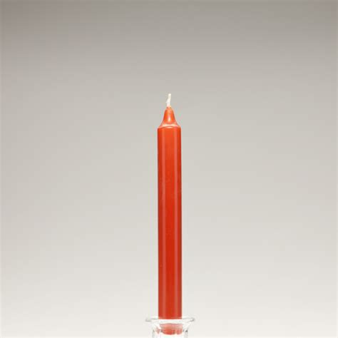Dripless Candles 8 Inch Burnt Orange Taper Dripless Candles Orange