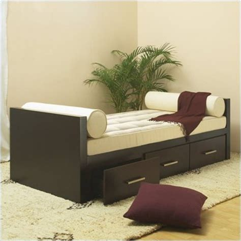 finish wood frame full size daybed with drawers king size captains platform storage dresser underbed