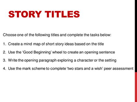 Creative Essay Titles by Ks3 Creative Writing Story Titles By Uk Teaching Resources Tes