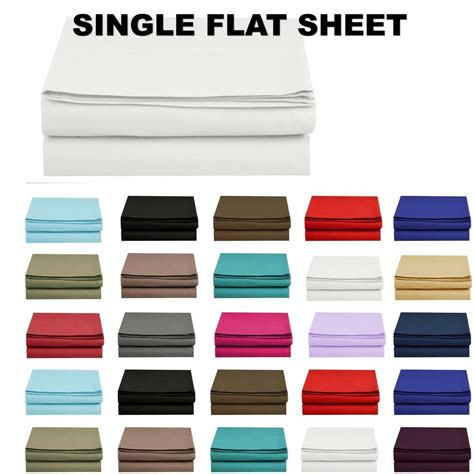 12 all colors 1500 thread count single flat sheet top sheet available