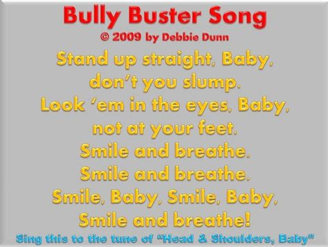 anti bullying song for 1 bully buster song