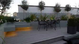 Exotic Bedroom Furniture grey garden decking composite boards led lights modern